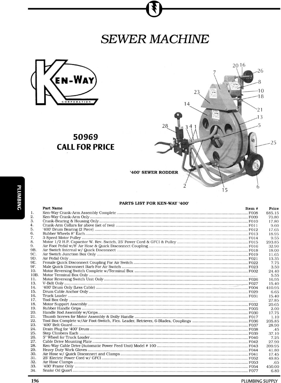 Plumbing Table Of Contents American Standard Parts 202 Indiana Bathroom Sink Diagram Installation Diagrams R 21 Sewer Machine Special Order Call For Price Cable Only 3 8 X 75 Drop Head Unlimited Supplies 4946 Center Park Blvd San