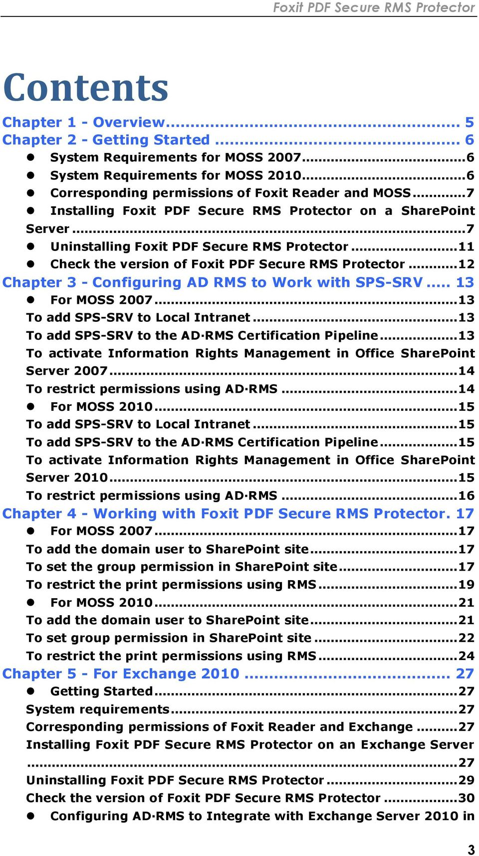 Foxit PDF Secure RMS Protector  (SharePoint Extensions) - PDF