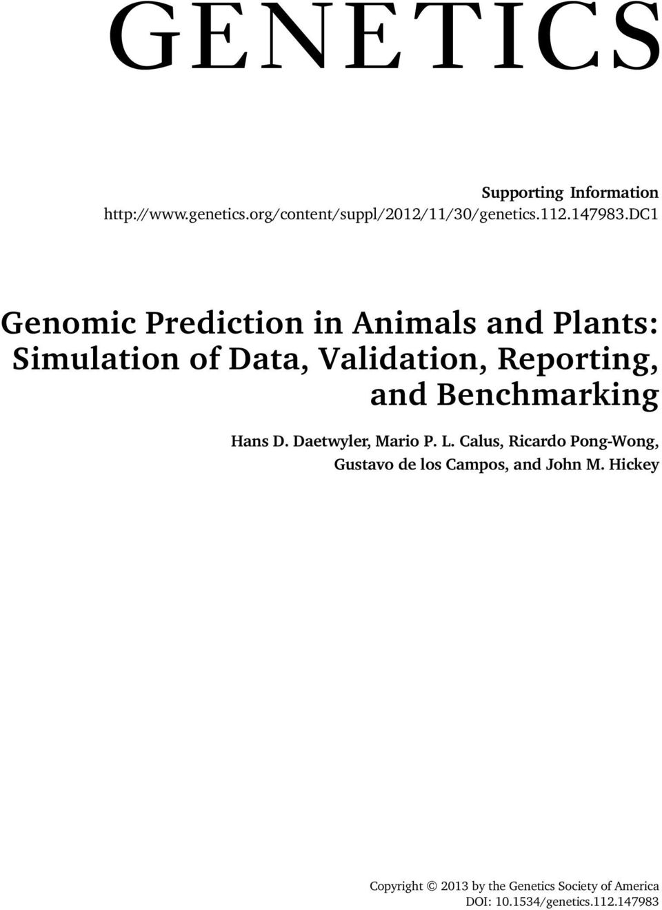 GENOMIC information is transforming animal and plant - PDF