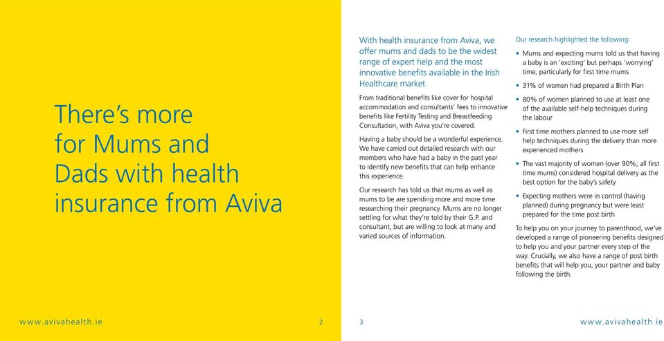 The Aviva Maternity Benefits Guide Aviva Health Insurance Ireland