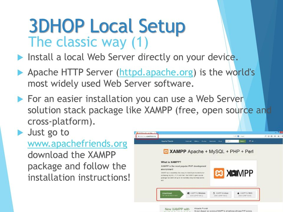 For an easier installation you can use a Web Server solution stack package like XAMPP (free, open