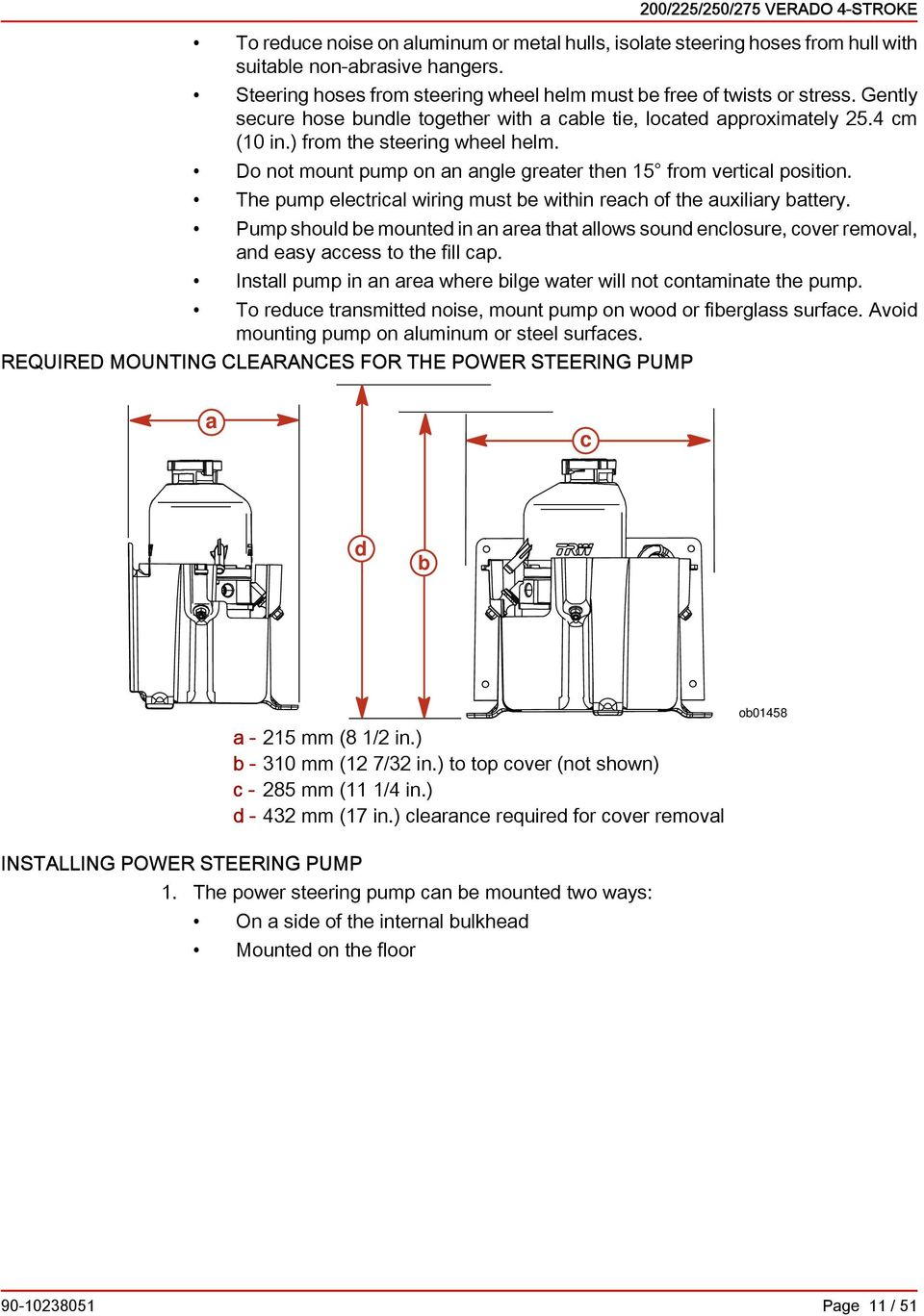 200 225 250 275 Verado 4 Stroke Installation Manual Pdf Diagram For Wiring 8 Pin Nr 51 Th Pump Ltril Must Within Rh Of Uxiliry Ttry Shoul Mount In