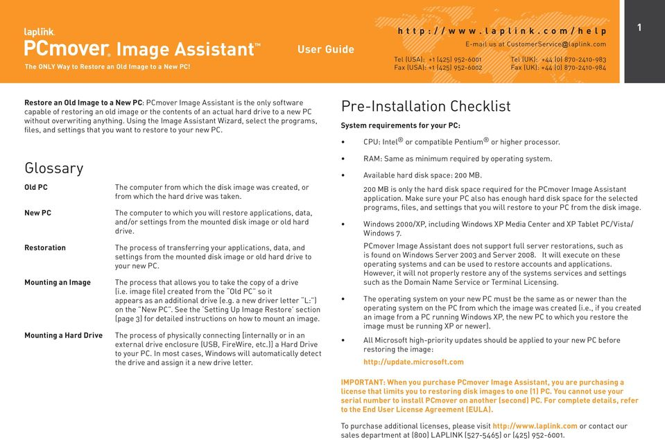 Pre-Installation Checklist System requirements for your PC: CPU: Intel or compatible Pentium or higher processor.