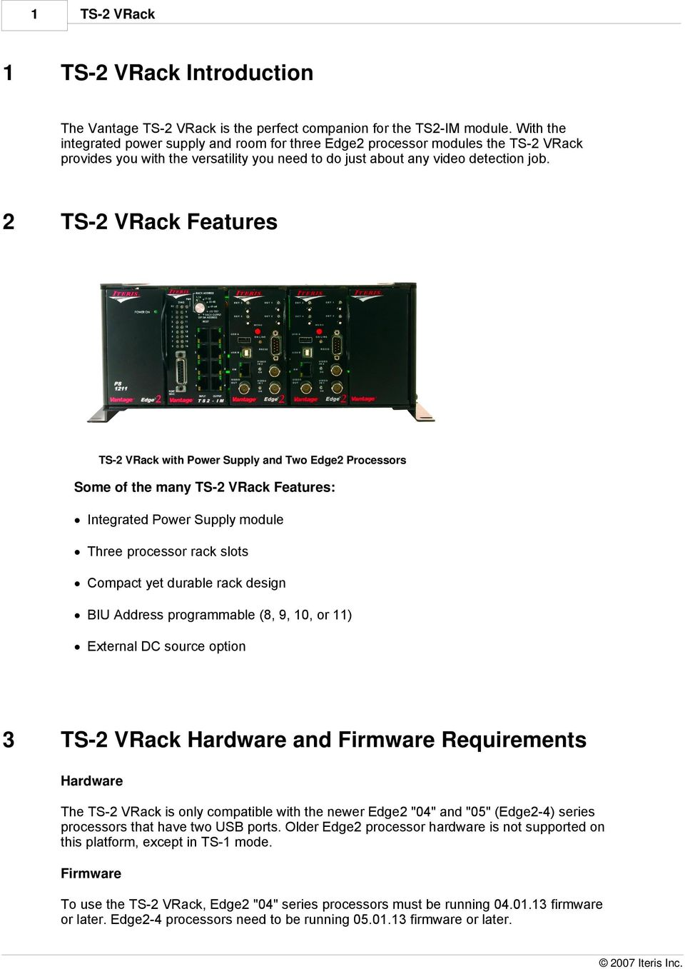 Ts2 Vrack User And Installation Manual Pdf Netaxs Single Door Wiring Diagram 2 Ts Features With Power Supply Two Edge2