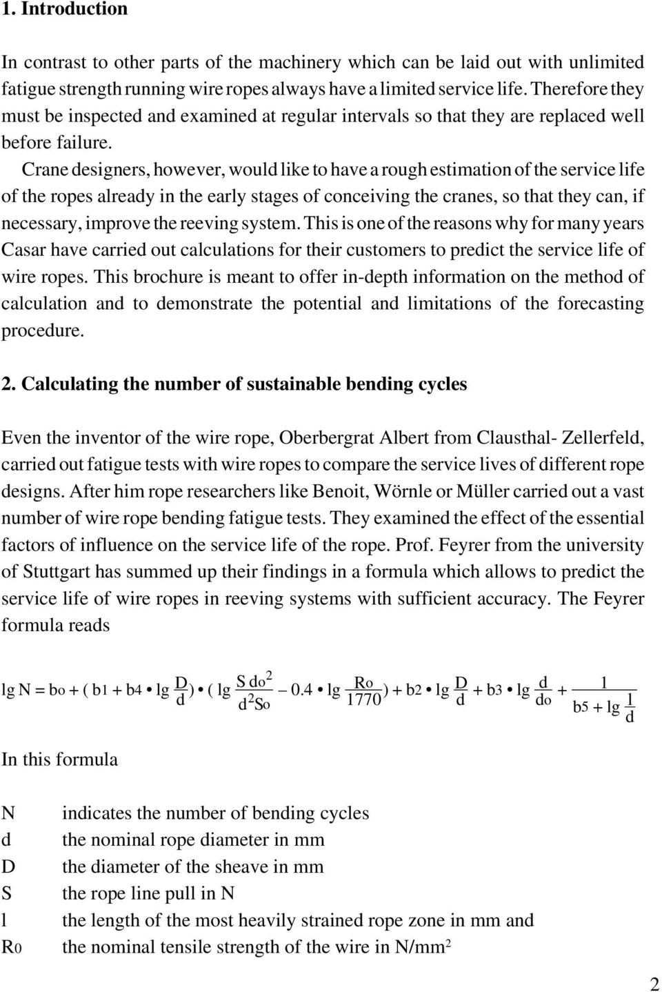 Calculating the service life of running steel wire ropes - PDF