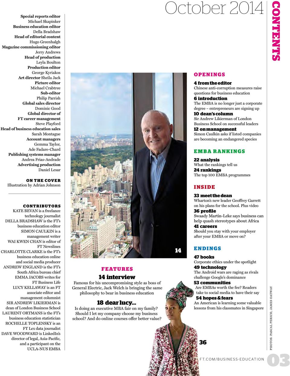 October Ft Business Education Executive Mba Ranking Interview Jack