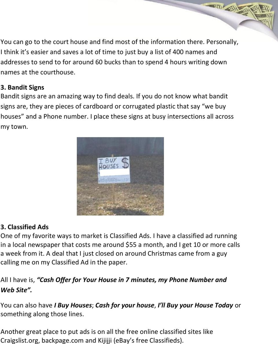 Vacant House Riches Quick Start Guide - PDF