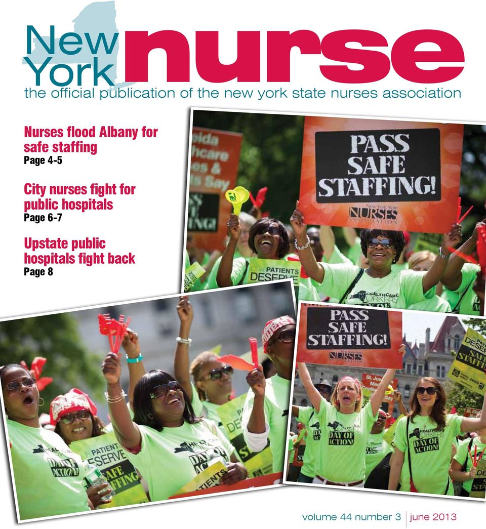 staffing Page 4-5 City nurses fight for public hospitals
