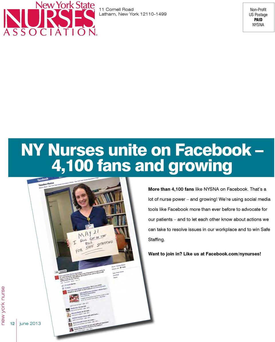 We re using social media tools like Facebook more than ever before to advocate for our patients and to let each other