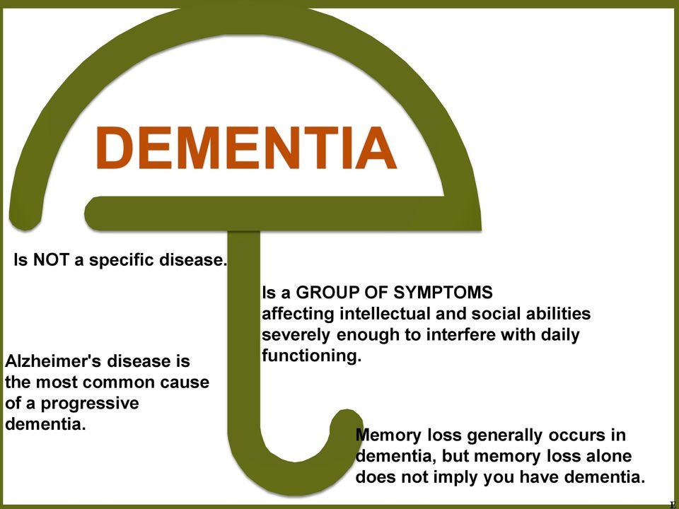 Is a GROUP OF SYMPTOMS affecting intellectual and social abilities severely