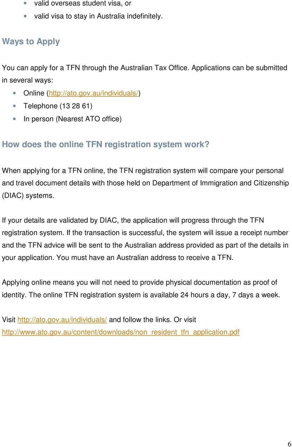 Welcome To The Ramsay Health Care Family Pdf Diac Applications When Applying For A Tfn Online Registration System Will Compare Your Personal And