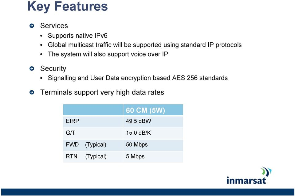 IP protocols The system will also support voice over IP!
