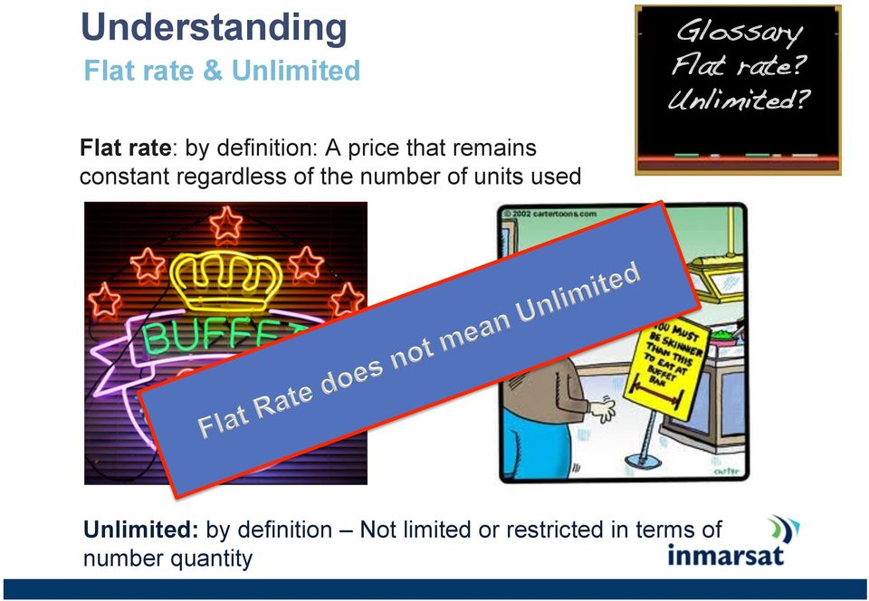 ! Flat rate: by definition: A price that remains constant