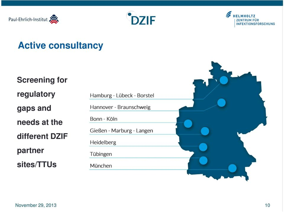 at the different DZIF partner