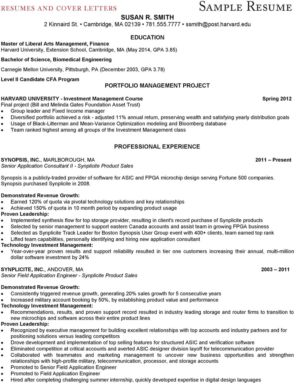 RESUMES and COVER LETTERS - PDF