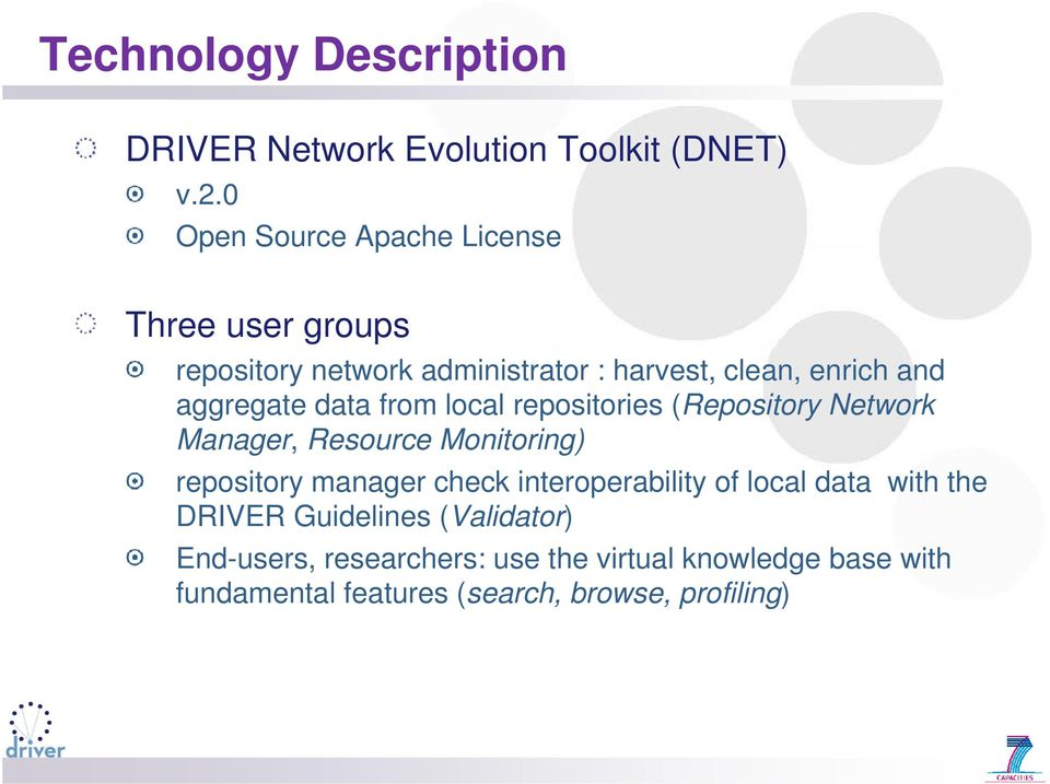 aggregate data from local repositories (Repository Network Manager, Resource Monitoring) repository manager check