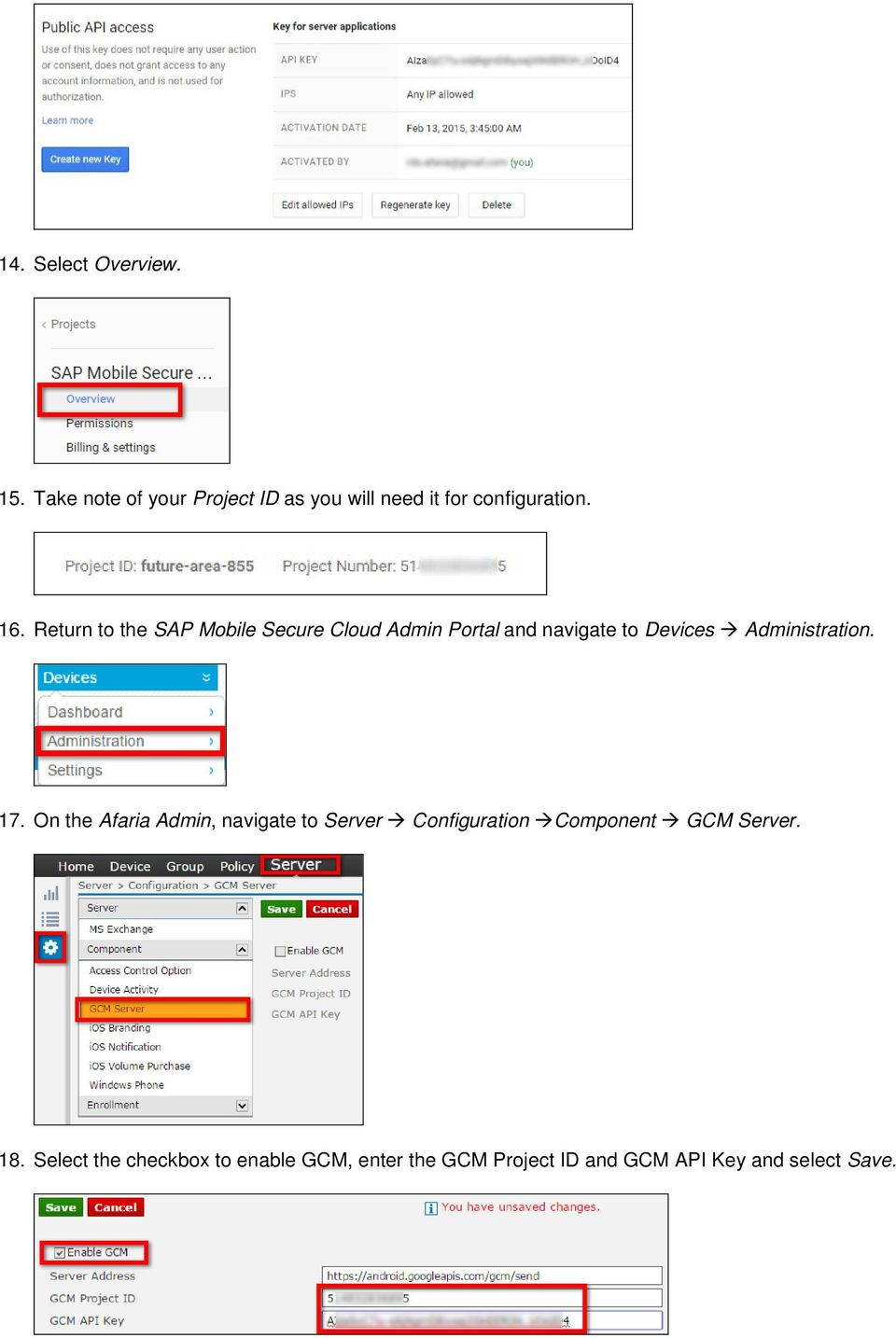 Return to the SAP Mobile Secure Cloud Admin Portal and navigate to Devices Administration.