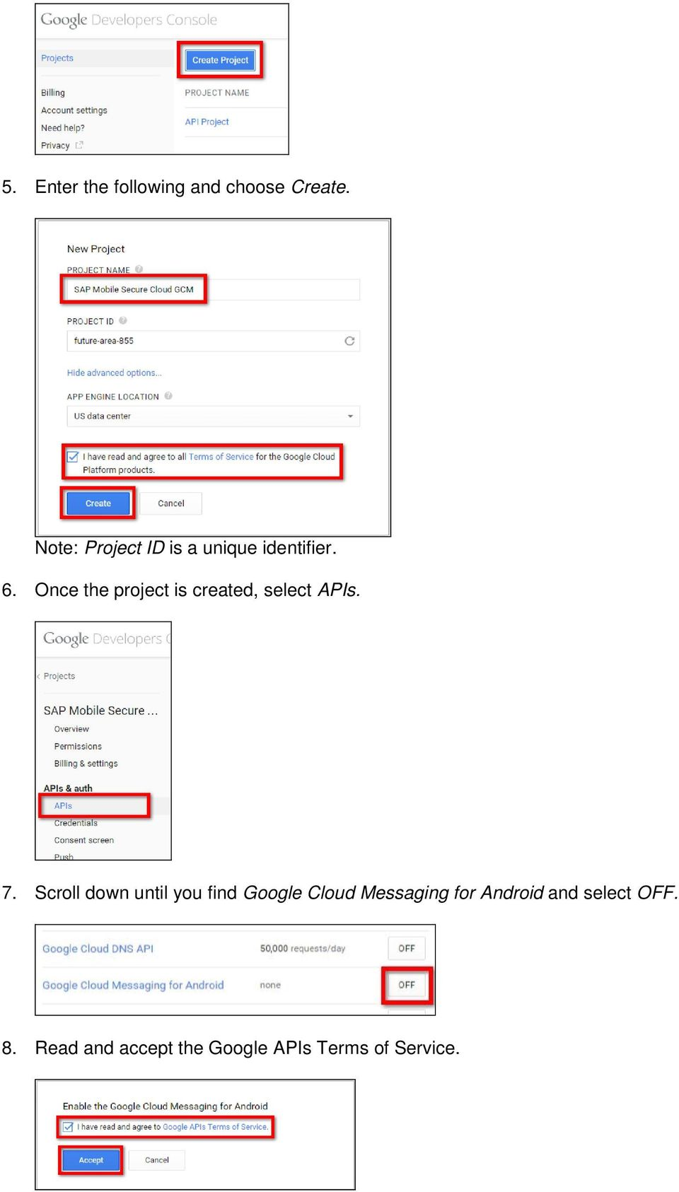 Once the project is created, select APIs. 7.