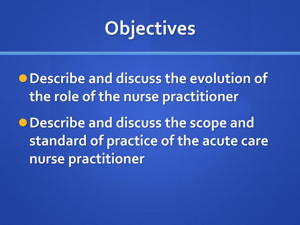 practitioner Describe and discuss the scope