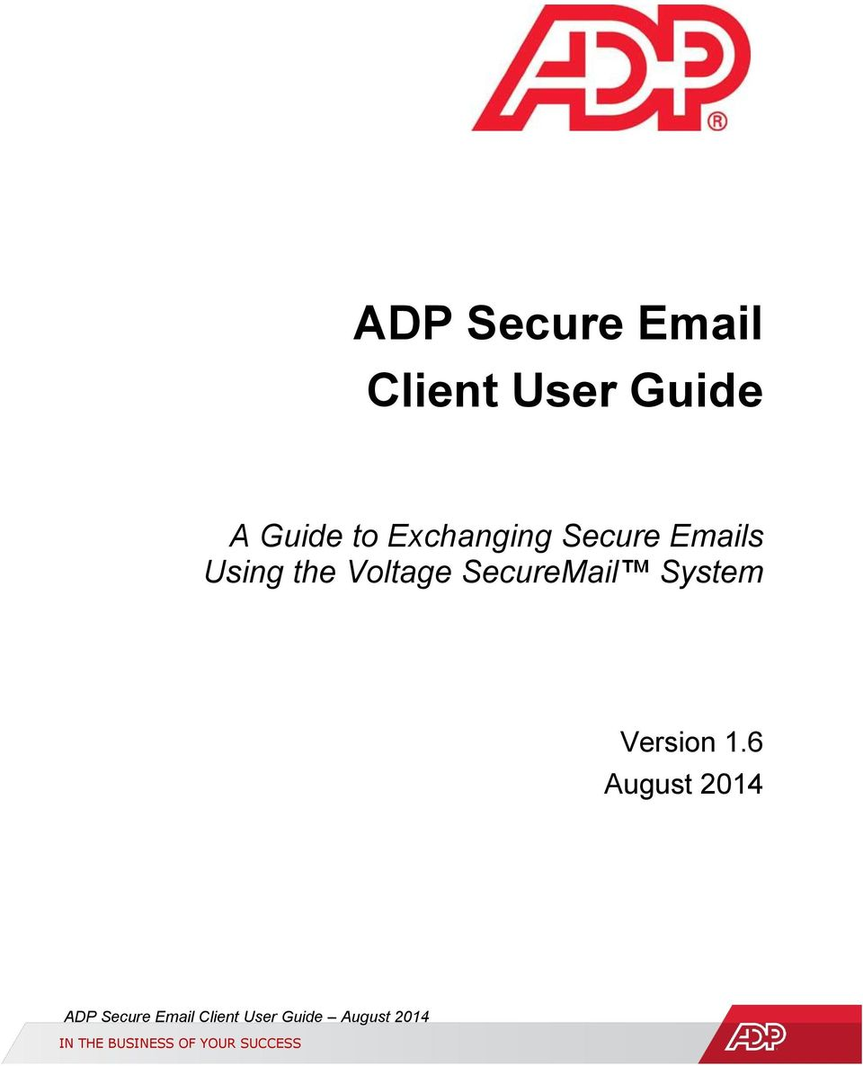 ADP Secure Client User Guide - PDF