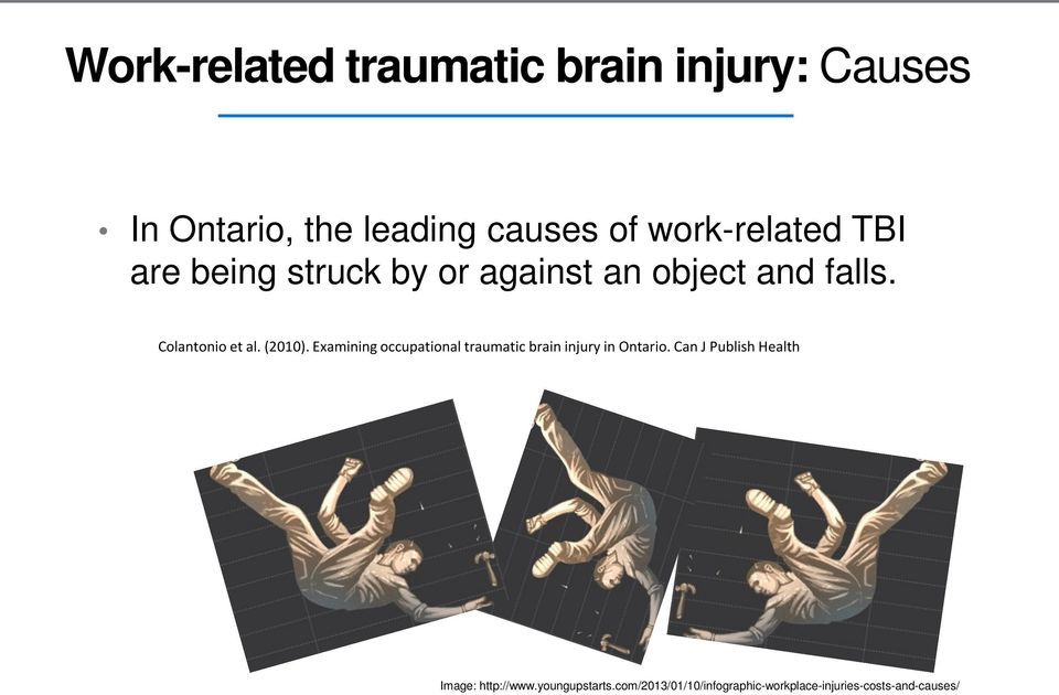 (2010). Examining occupational traumatic brain injury in Ontario.