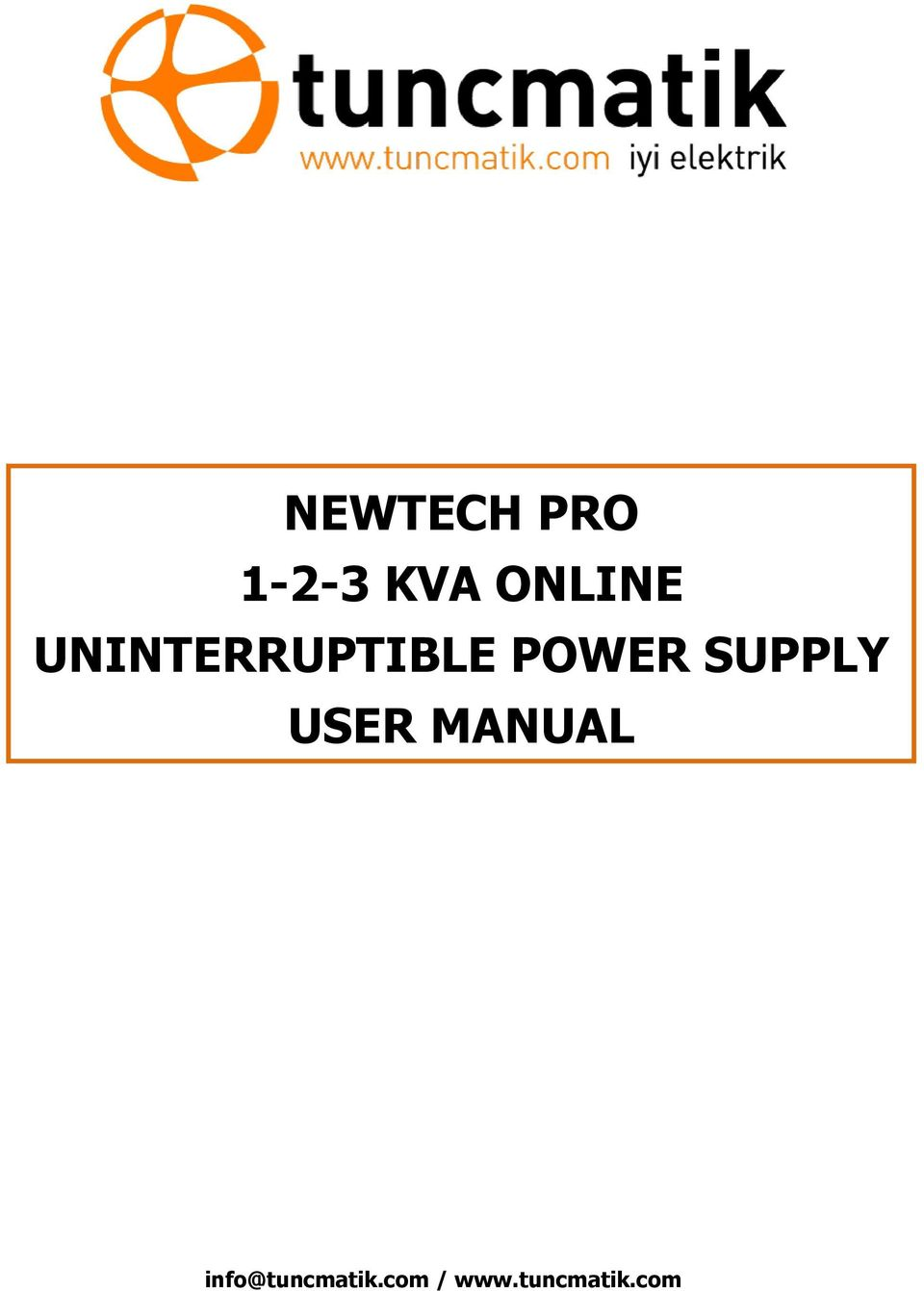 POWER SUPPLY USER MANUAL