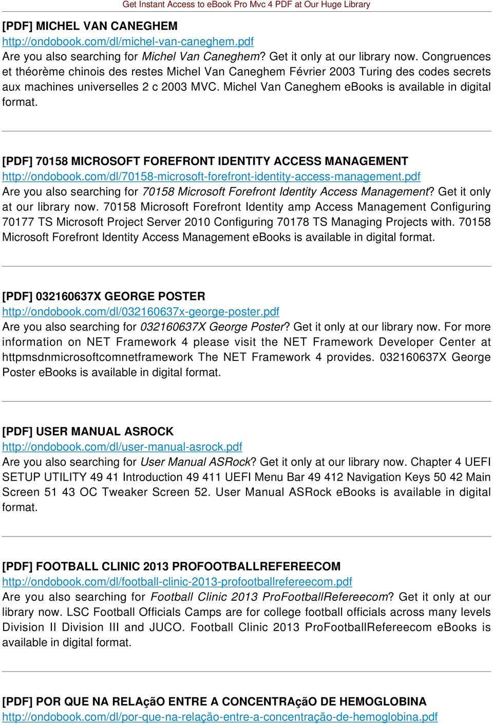 [PDF] 70158 MICROSOFT FOREFRONT IDENTITY ACCESS MANAGEMENT http://ondobook.com/dl/70158-microsoft-forefront-identity-access-management.