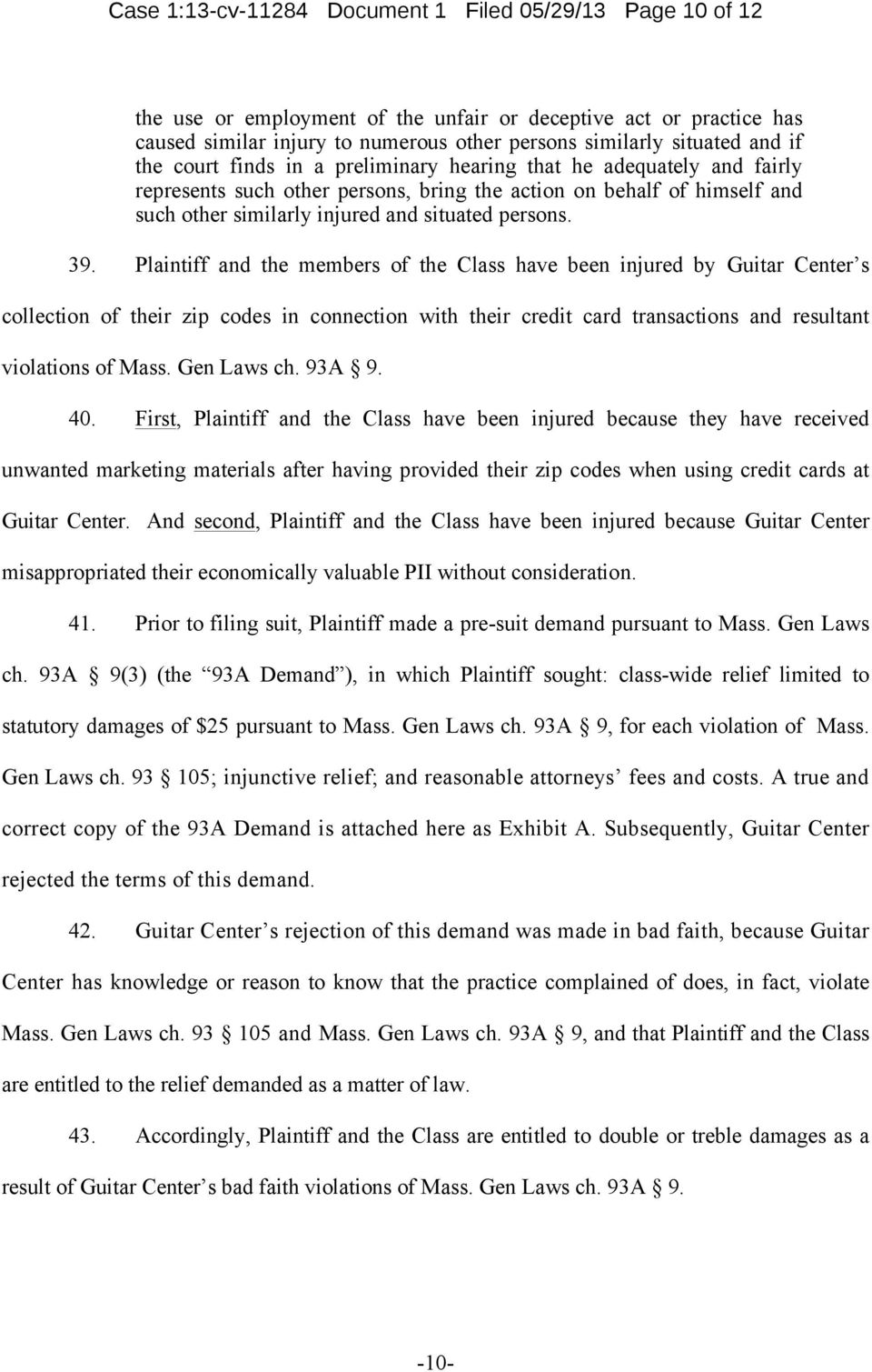 Case 1:13-cv Document 1 Filed 05/29/13 Page 1 of 12 IN THE UNITED