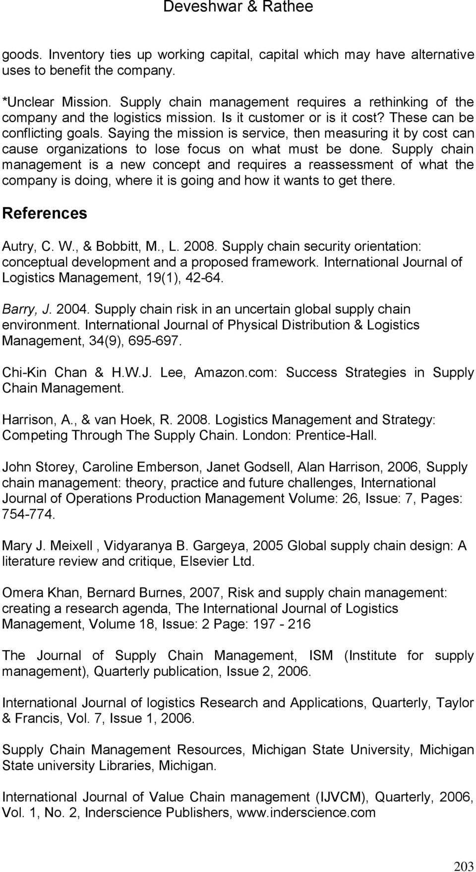 Challenges For Supply Chain Management In Today s Global