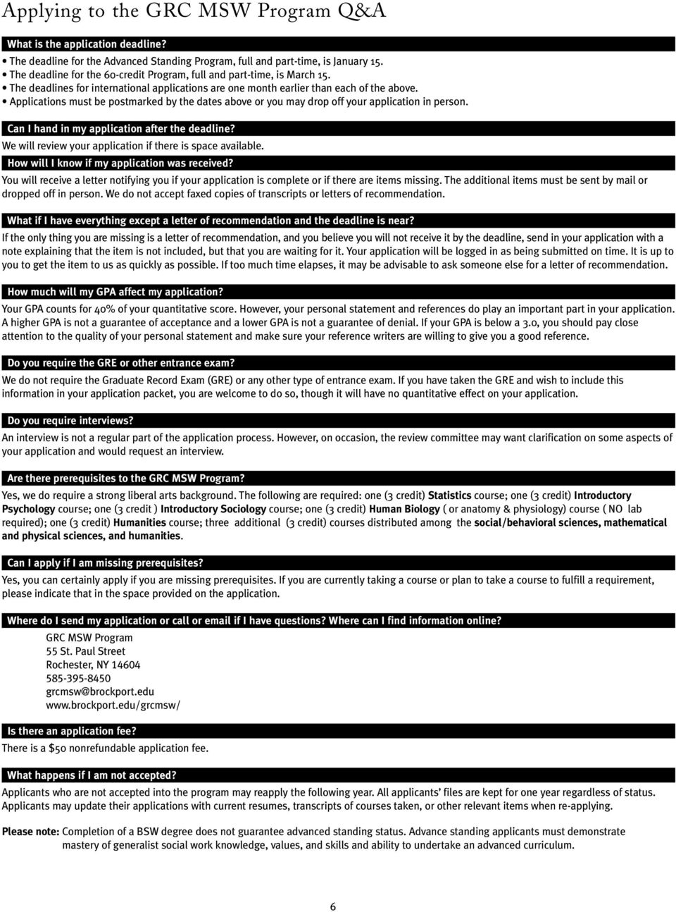 Application for Admission to Master of Social Work Degree - PDF