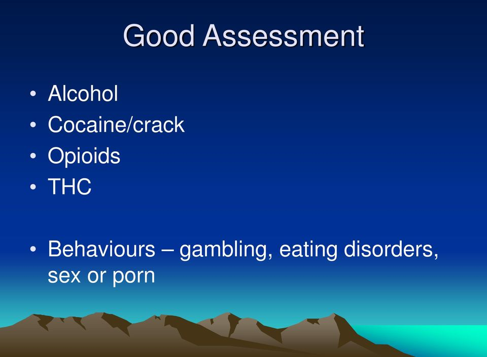 THC Behaviours gambling,