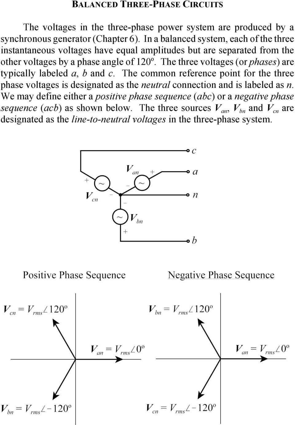 Balanced Three Phase Circuits Pdf The Lines Neutral Earthing And Conductors For Power Voltages Or Phases Are Typically Labeled A B C