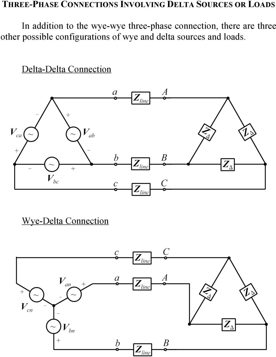 Balanced Three Phase Circuits Pdf Power Inverter Circuit Diagram Besides 3 Motor Are Other Possible Configurations Of Wye And Delta