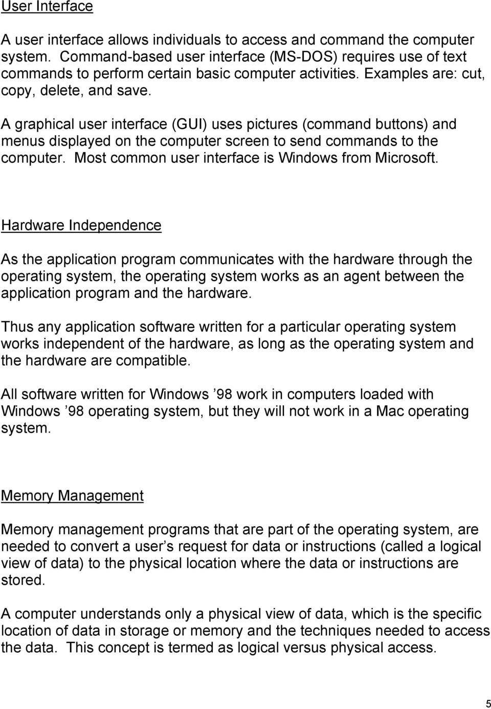 Software: Systems and Application Software - PDF