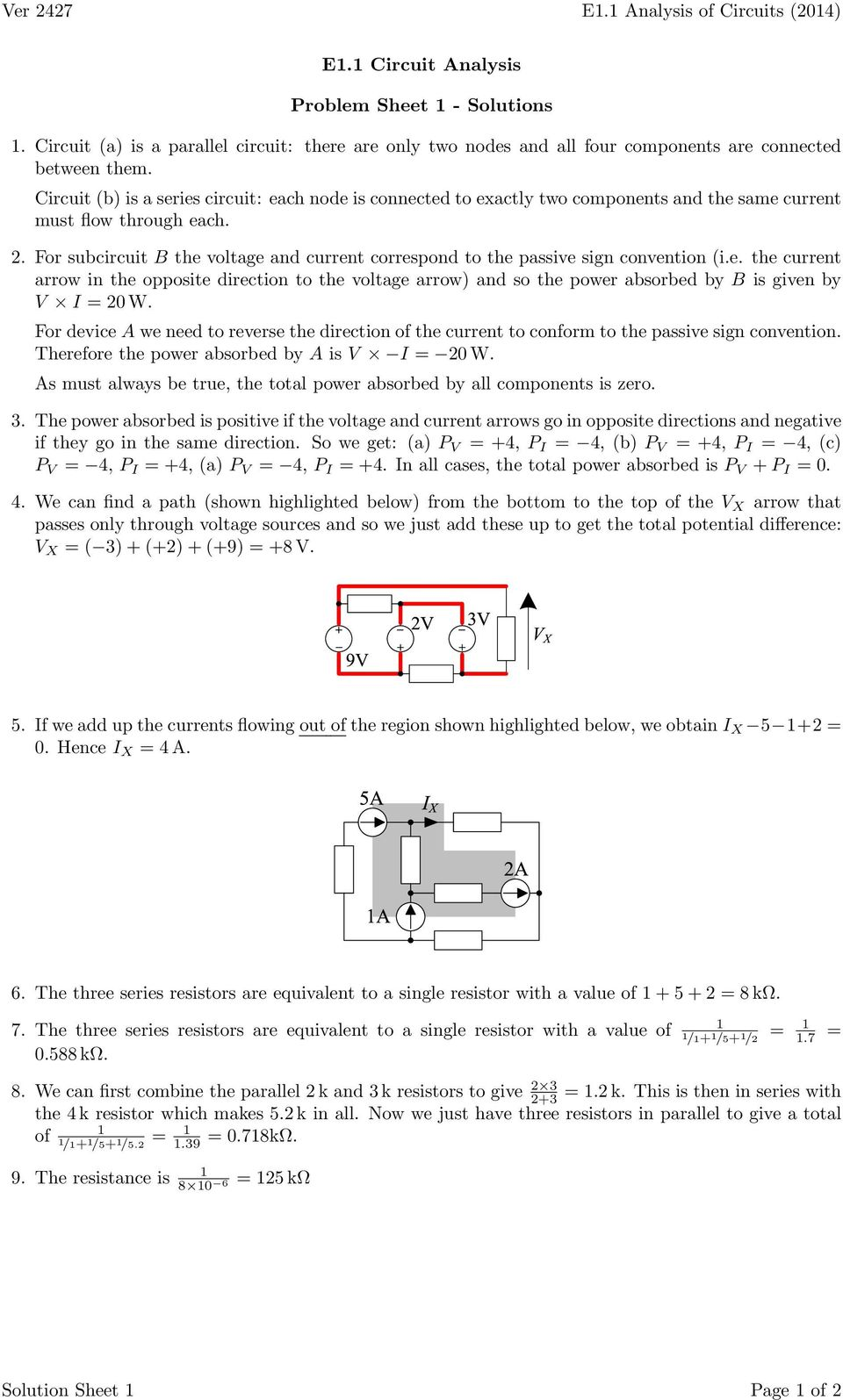 Ver 3537 E11 Analysis Of Circuits 2014 Circuit Electrical Engineering Tutorials Thevenin39s And Norton39s Theorem For Subcircuit B The Voltage Current Correspond To Passive Sign Convention Ie