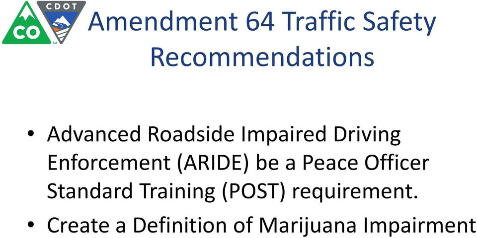 (ARIDE) be a Peace Officer Standard Training