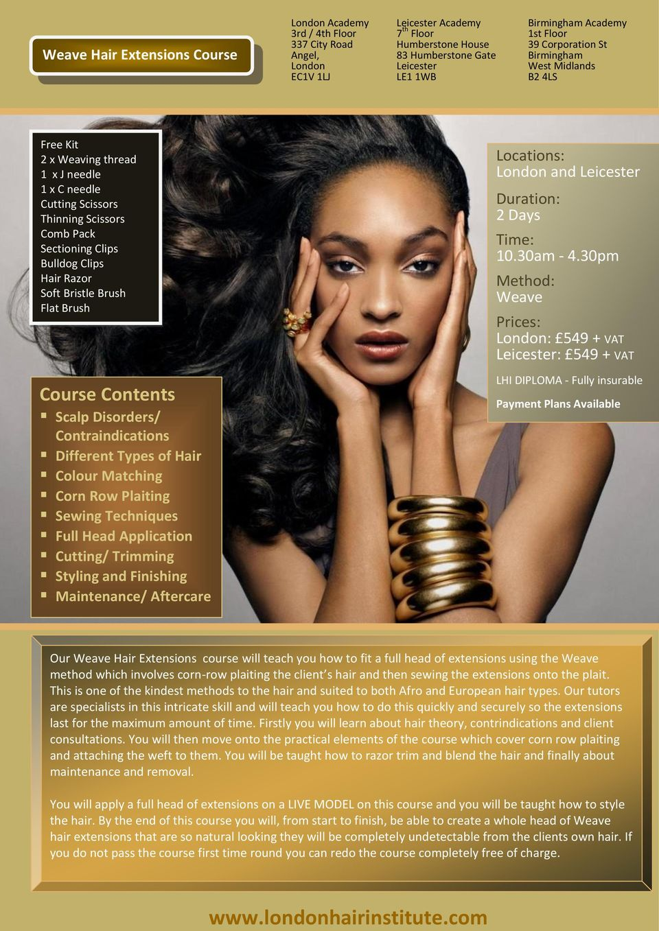 Hair Extensions Training Brochure Pdf