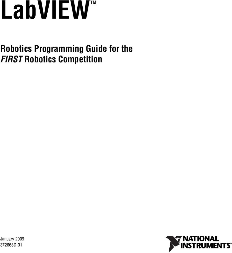 Labviewtm Robotics Programming Guide For The First Ti Jaguar Frc Wiring Diagram Competition Labview