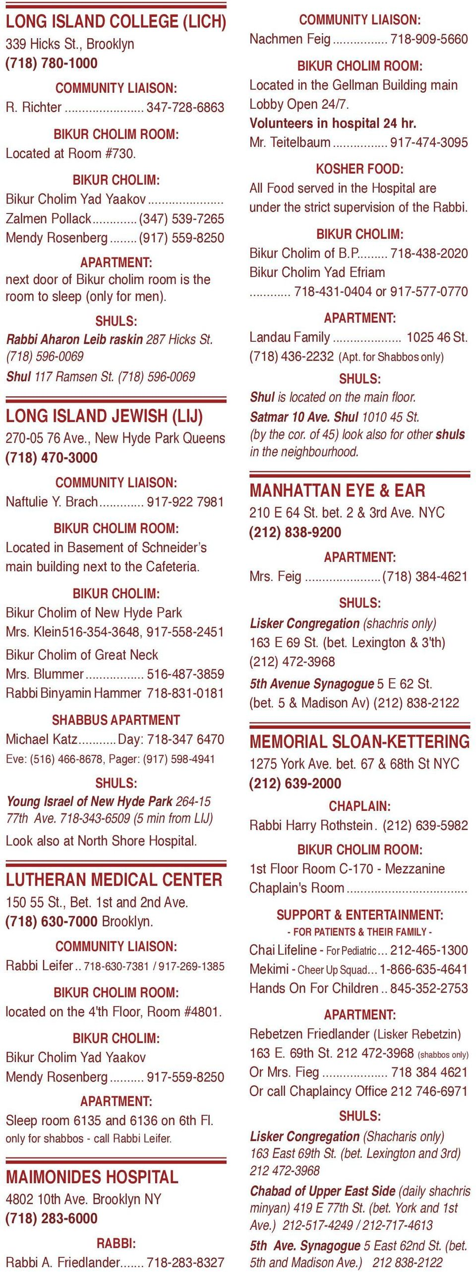 PATIENT HOSPITALS KOSHER GUIDE - PDF