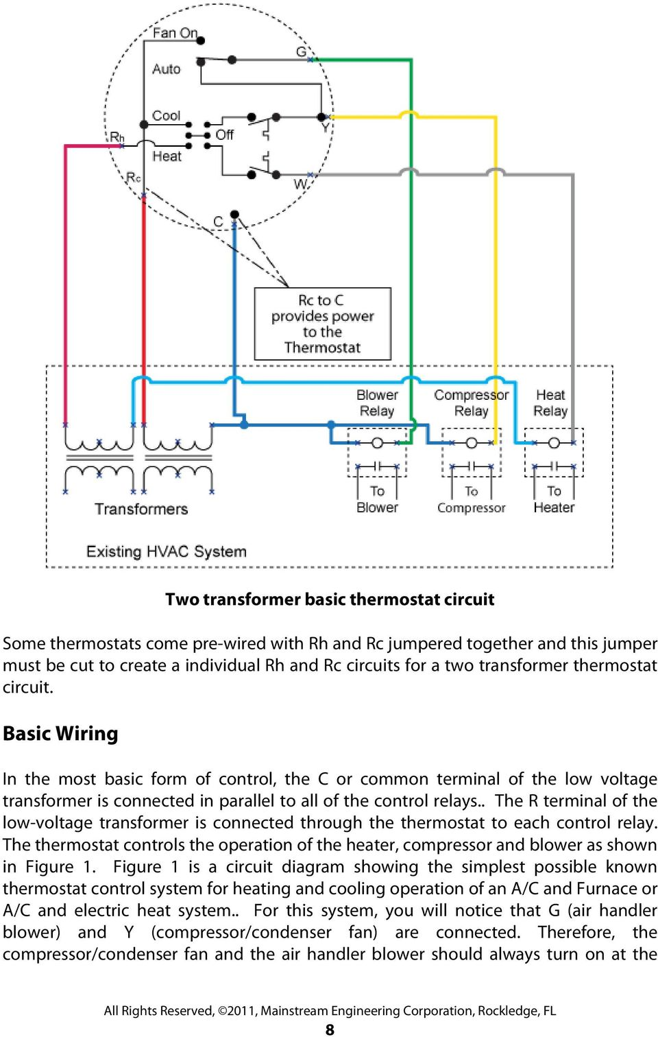 Thermostatic Wiring Principles By Bob Scaringe Phd Pe Pdf A Thermostat Transformer The R Terminal Of Low Voltage Is Connected Through To