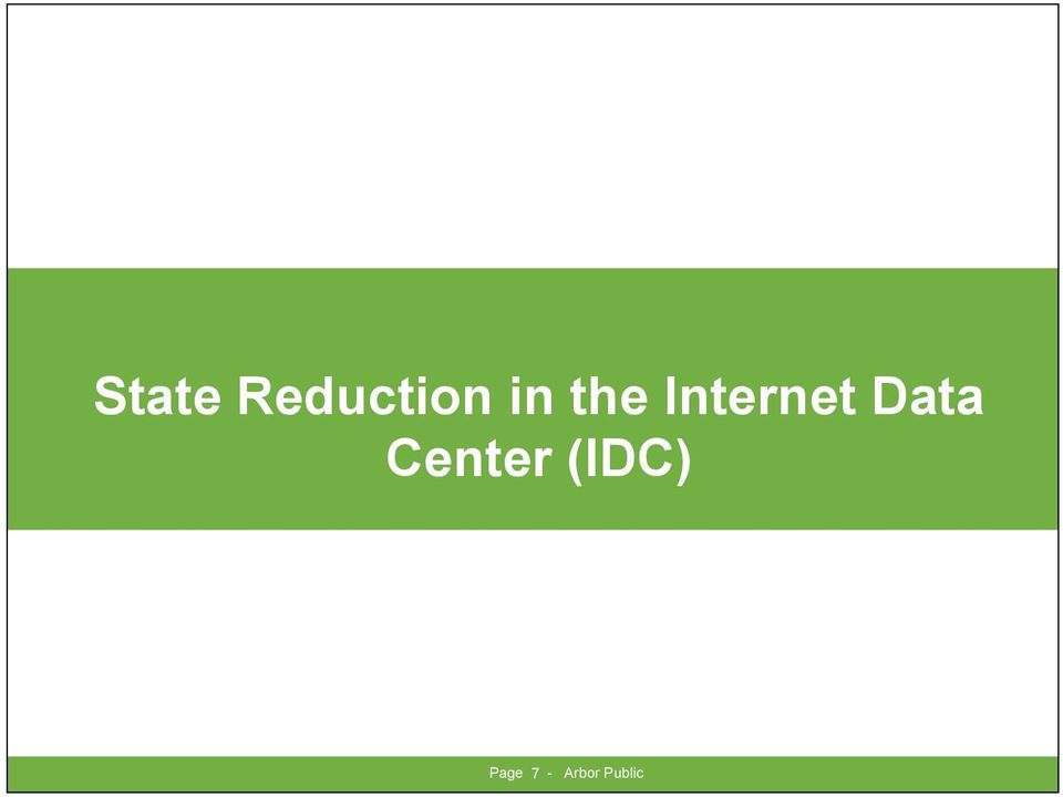 Data Center (IDC)