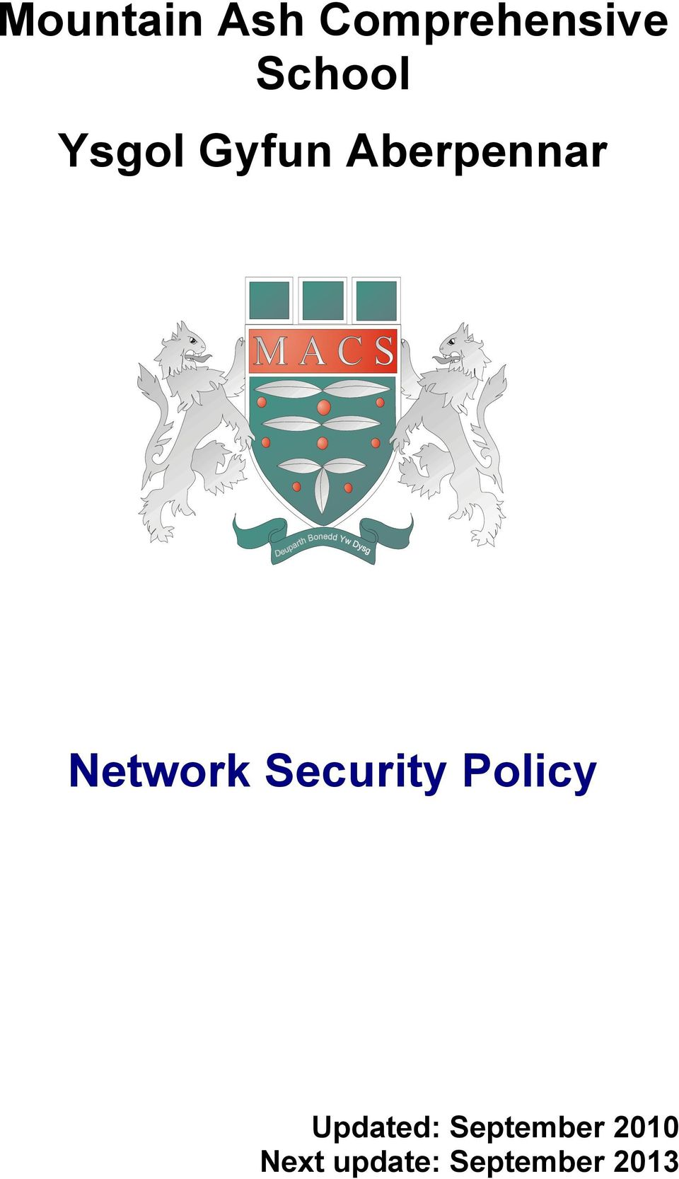 Network Security Policy Updated: