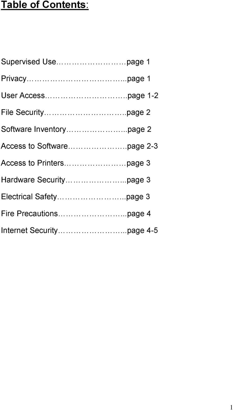 ..page 2 Access to Software.