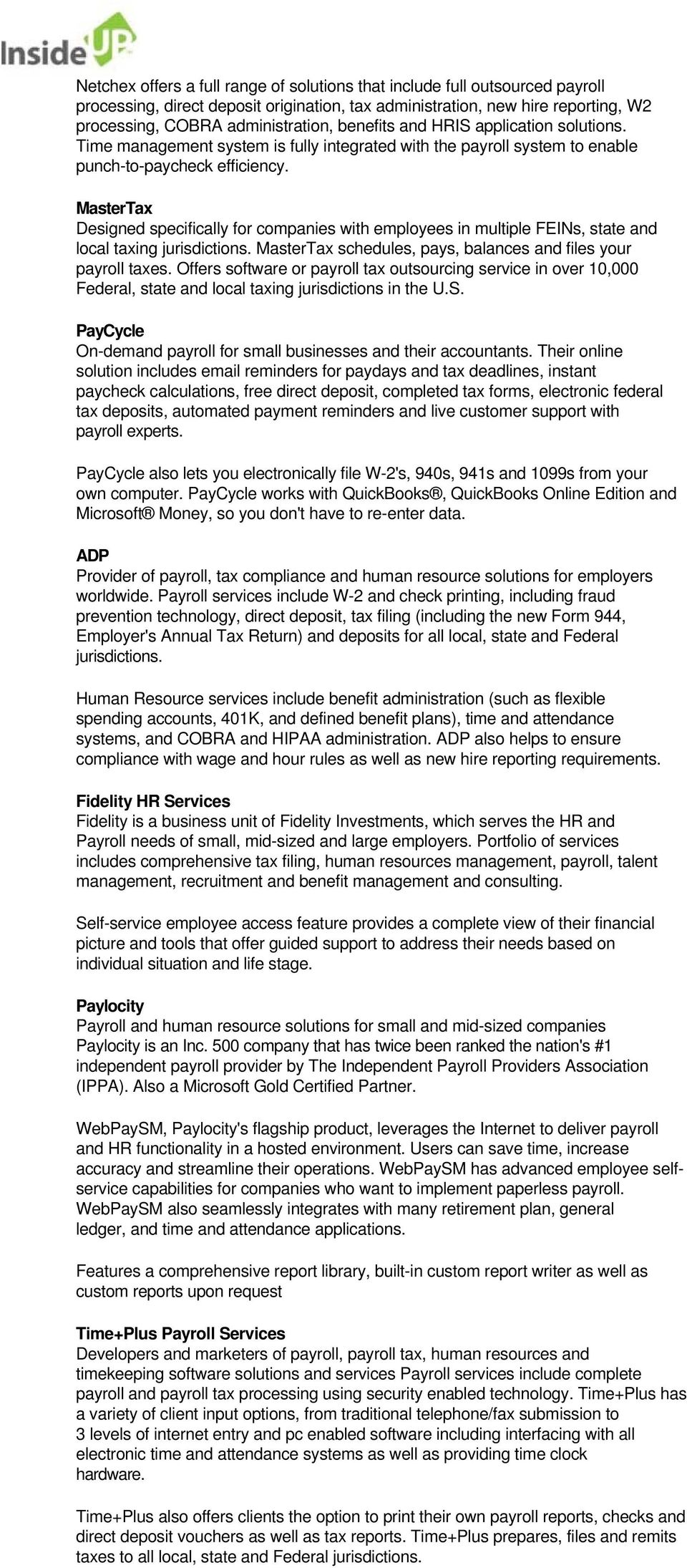 INCREASE EFFICIENCY WITH ENHANCED PAYROLL SERVICES - PDF