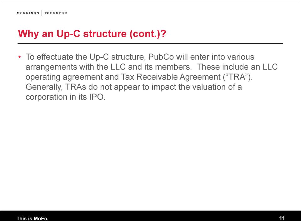 Understanding Up C Ipo Structures The Tax Benefits Explained Pdf