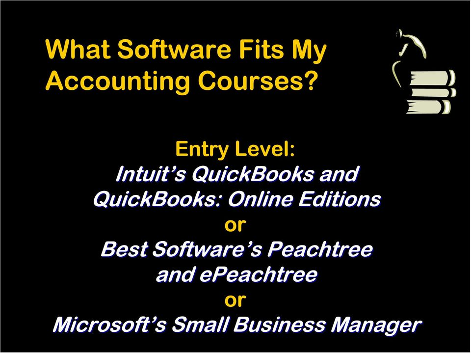 QuickBooks: Online Editions or Best Software s