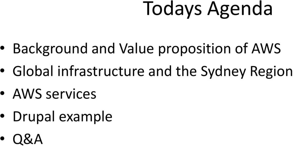 infrastructure and the Sydney