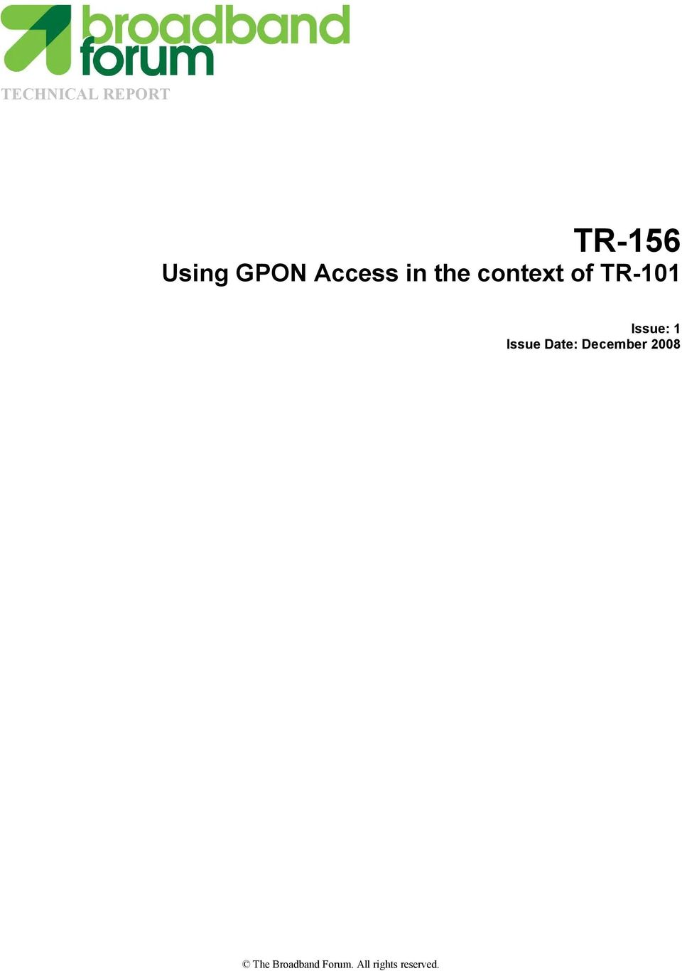 TR-156 Using GPON Access in the context of TR PDF