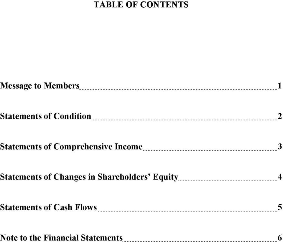 Statements of Changes in Shareholders Equity 4