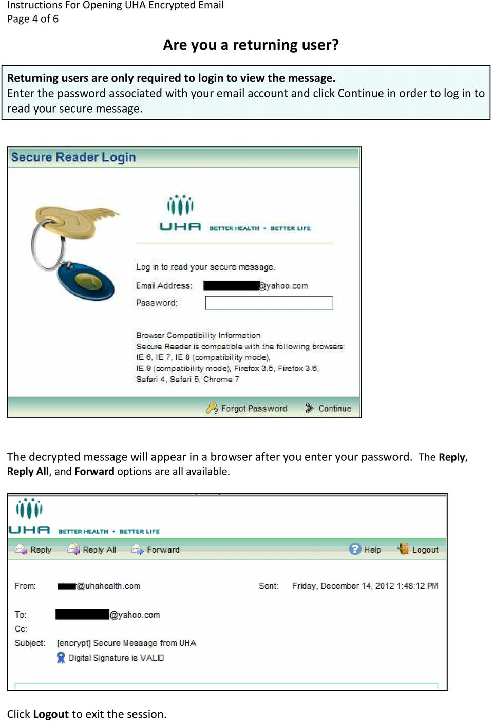 Enter the password associated with your email account and click Continue in order to log in to